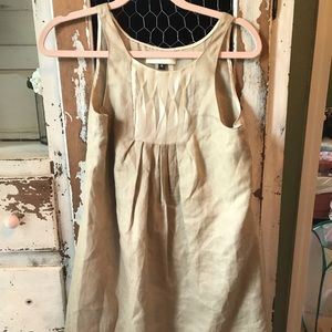 Bensoni tan linen sleeveless dress 140